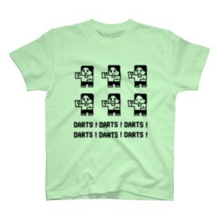 DARTS!DARTS!DARTS!ドット黒 T-shirts