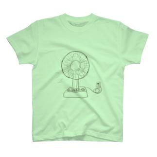 自家発電扇風機 T-shirts