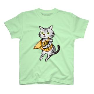 ちよちよ屋のふくにゃホルン T-shirts