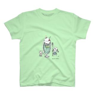 ほっかむねこ屋(アトリエほっかむ)のクリームソーダ T-shirts