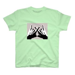 凶のハンドサイン(フォト) T-shirts