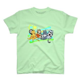 ネコリンピック✨球技 T-shirts
