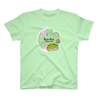 カエルのスイスイ 蓮 T-shirts