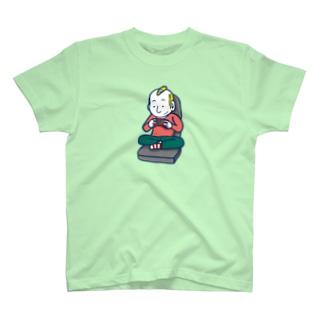 Gaming Boy(ビッグイラスト)/濃色Tシャツ T-shirts