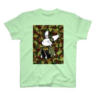[Rabit]カモ柄T[男女兼用] T-Shirt