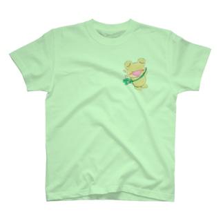 やんわり店舗(アリサ)のキリリとあめかえる T-Shirt