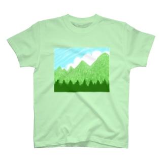 青空と雲と青い山脈ズ T-shirts