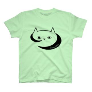 ネコソダテ店長しろねこモノクロパーカー T-shirts