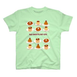 スイーツマニア専用デザイン「NO SWEETS NO LIFE」 T-shirts