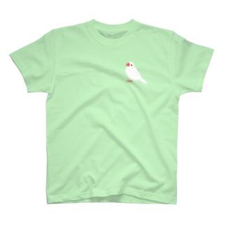 張り付き文鳥 T-Shirt
