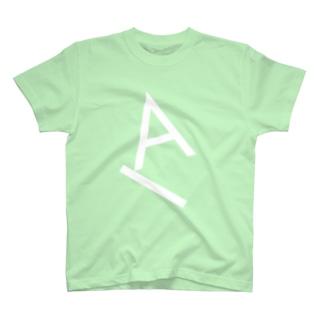 Type Gravity - A (White) T-shirts