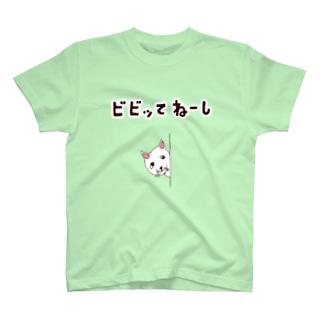 ユーモアネコデザイン「びびってねーし」 T-Shirt
