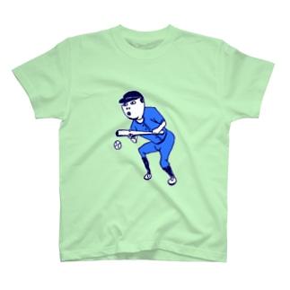 この夏おすすめ!野球デザイン「バント」<文字なし> T-shirts