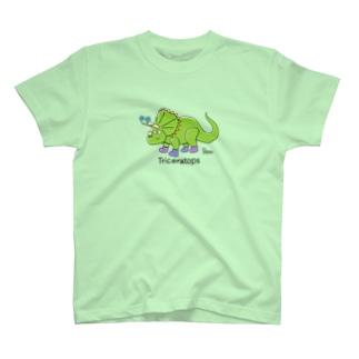 トリケラトプスさん T-shirts