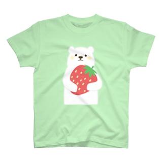 イチゴを持ったしろくまさん T-shirts