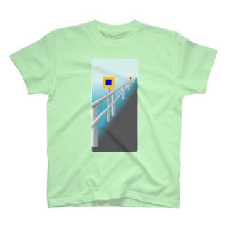 投雪禁止区域指定標示板 T-shirts