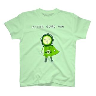 この夏おすすめ!沖縄デザイン「ゴーヤマン」*テレビドラマ「あの時キスしておけば」にて、松坂桃李さんが着用してくれていた模様 T-shirts