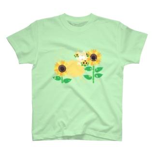 夏だよ!ひまわりの妖精 T-shirts
