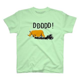 サイのTシャツ「どどどどど」 T-shirts