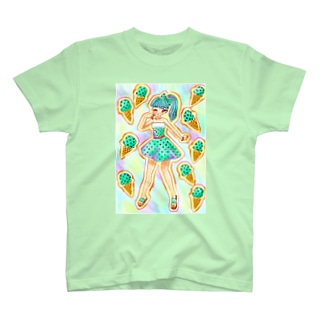 チョコミント 女の子 T-Shirt
