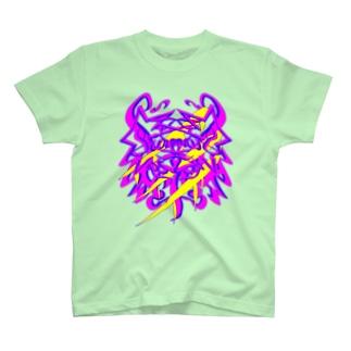 steersからの移動商品「狼カリグラフィー2型」 T-shirts
