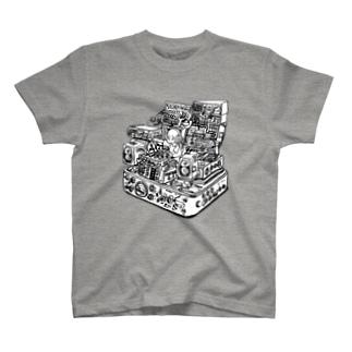 あけたらしろめ「ハイパーインフレ」白抜きver Tシャツ