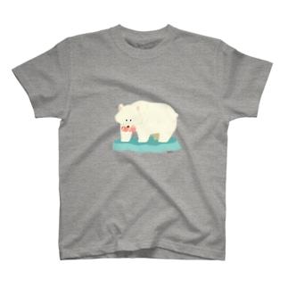 しろくまのきぼり Tシャツ