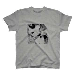 バセットハウンドとサングラス Tシャツ