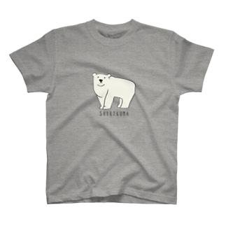 シロクマ Tシャツ