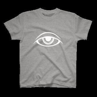 呪術と魔法の銀孔雀の瞳と魔法Tシャツ