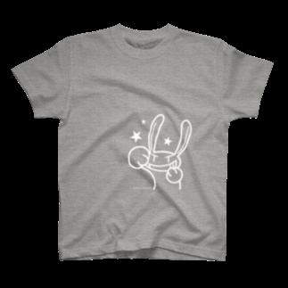 はまえつのどくちゃん(白インク)Tシャツ