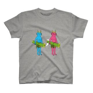 鬼に金棒 ダブル Tシャツ