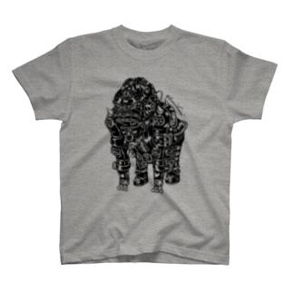"Animalia Kinky "" Black Gorilla "" Tシャツ"
