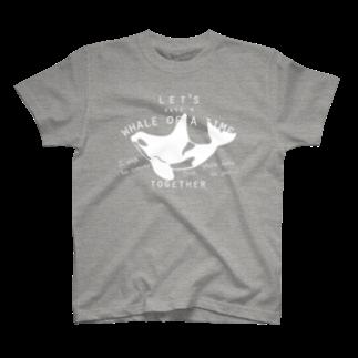 クジラのマグカップ屋さん。プラスのシャチTシャツ