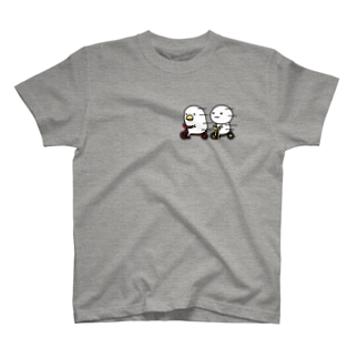 トリとまるいのTシャツ Tシャツ