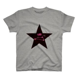 スタースタッズ星座 獅子座 Tシャツ