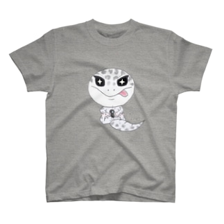 おすわりレオパ(ごましおくん) Tシャツ