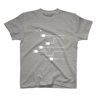 plug in ! (No.4)(濃色生地用) Tシャツ