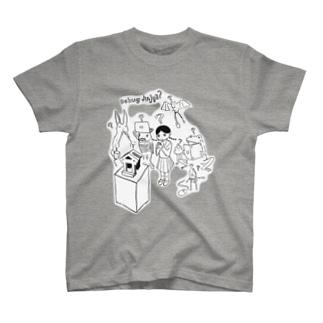 どうぶつとデバッグ神社 Tシャツ