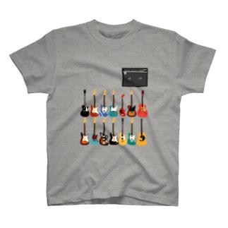 ギターとアンプ Tシャツ