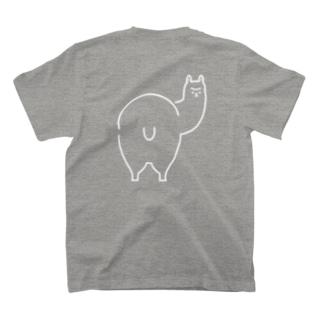 ロゴチックアルパカ(back print) T-shirts