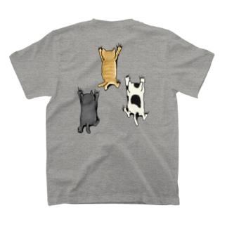 バックプリントver. 登ってくるネコたち T-shirts