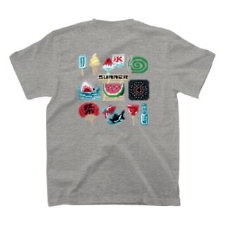 【バックプリント】 ドットSummer T-shirts
