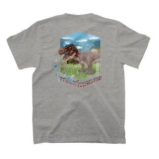 【バックプリント】 ティラノサウルス T-shirts