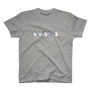 おりょうりペンギン(整列) T-shirts
