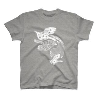トリドリ白 T-shirts
