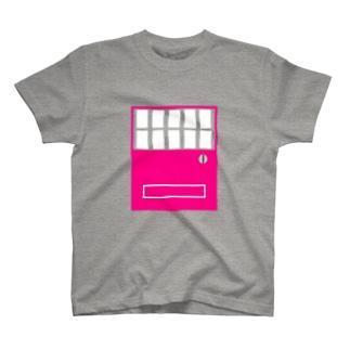 自販機pink×white T-shirts