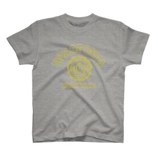 UNK OF UNDA(丸カレッジイエロー) T-shirts