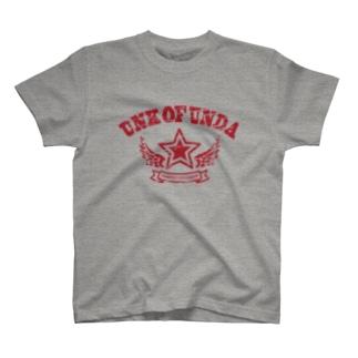 UNK OF UNDA(★カレッジレッド) T-shirts