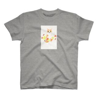 紅葉狩りー和紙 T-shirts